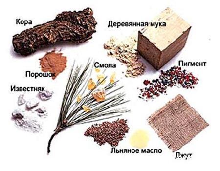 Ингредиенты натурального материала