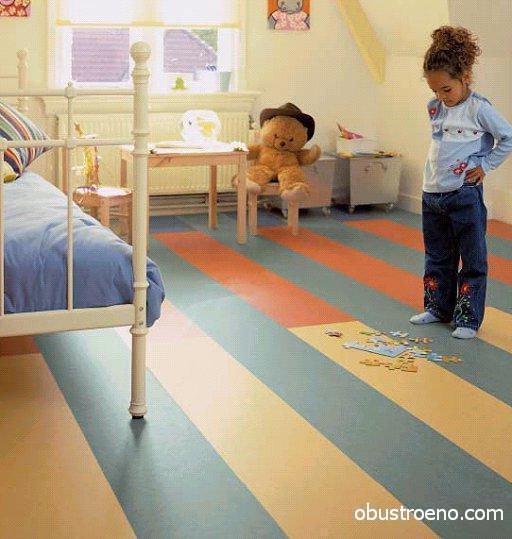 Покрытие в детскую (на фото) должно быть максимально безопасным