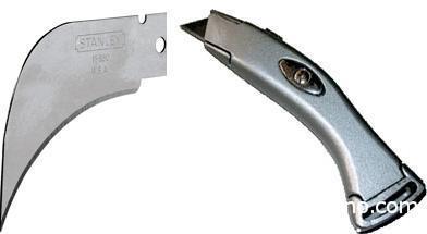 Специальный нож (блистер) и лезвие для напольных покрытий и гипсокартона