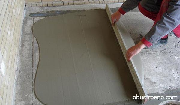 Выравнивание ЦПС по бетонному основанию