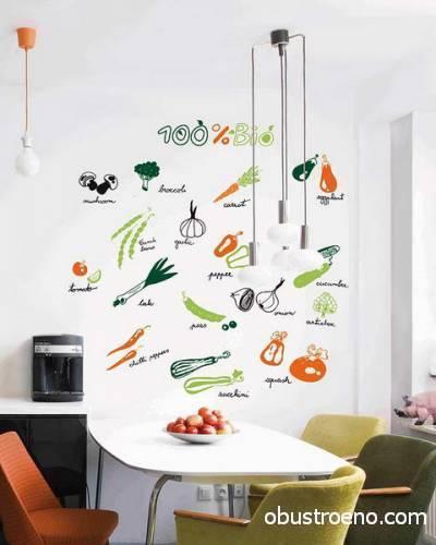 А вот «играть» с оттенками тяжелее, важно, чтобы каждый цвет на наклейках вписывался в концепцию кухни