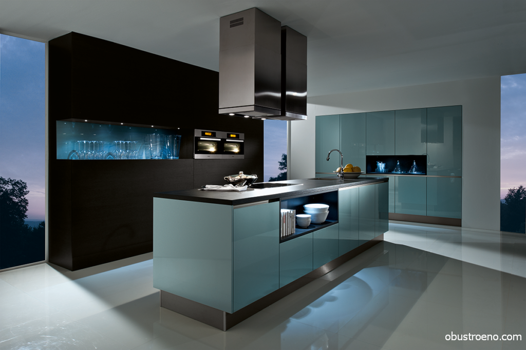 AV 6000 GL Night blue Haecker – пример реализации сплошных фасадов