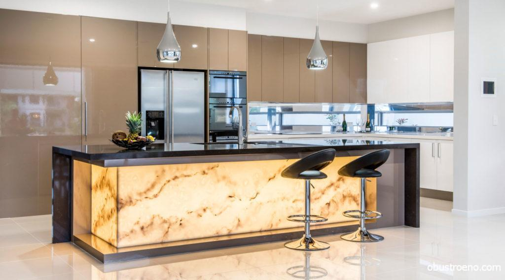 Дизайн кухни в кофейных оттенках