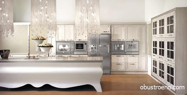 Дизайнерская кухня в классическом стиле Papillon – роскоши белого цвета