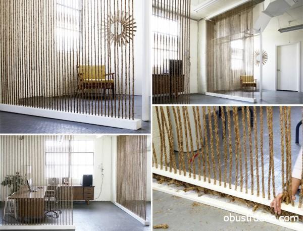 Дизайнерские идеи позволяют создавать прекрасные конструкции даже из веревки