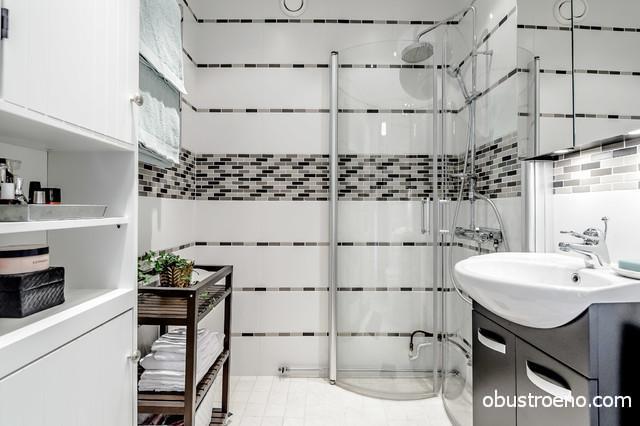 Этот стиль будет хорошо смотреться даже в небольшой ванной комнате