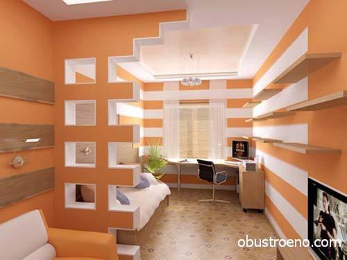 Фото комнаты, в которой большая часть интерьера выполнена из ГКЛ