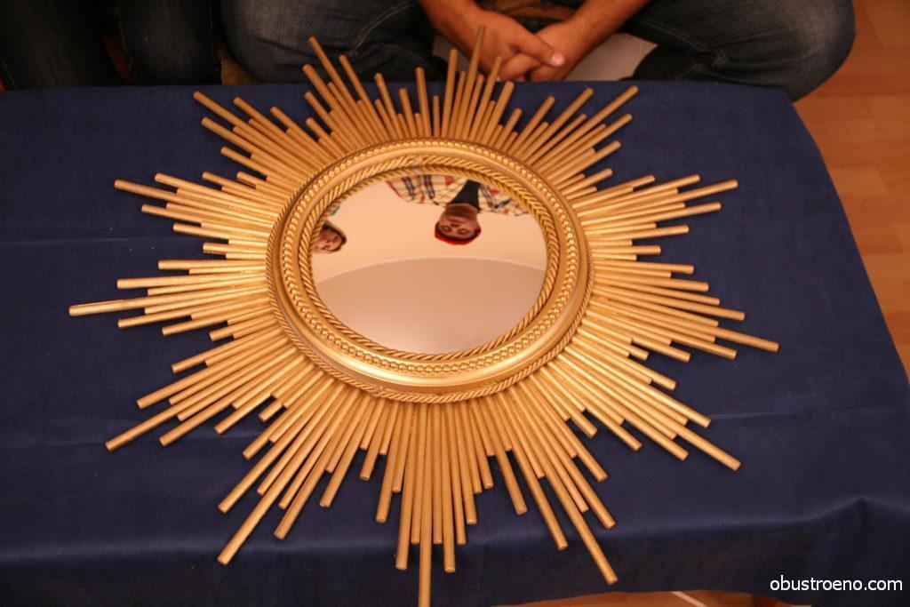 Солнце из зеркала своими руками