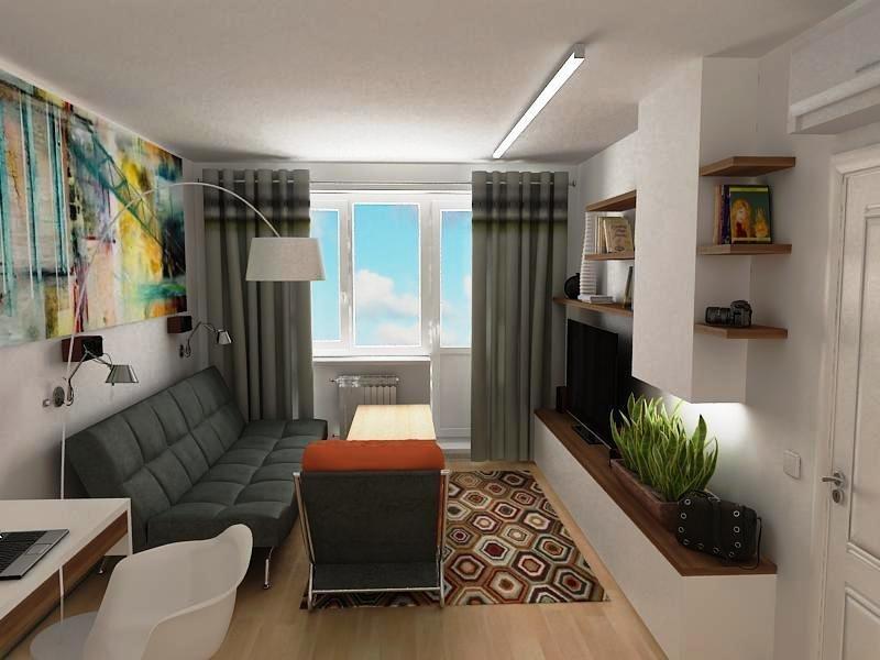 И такую комнату можно сделать комфортной и функциональной.