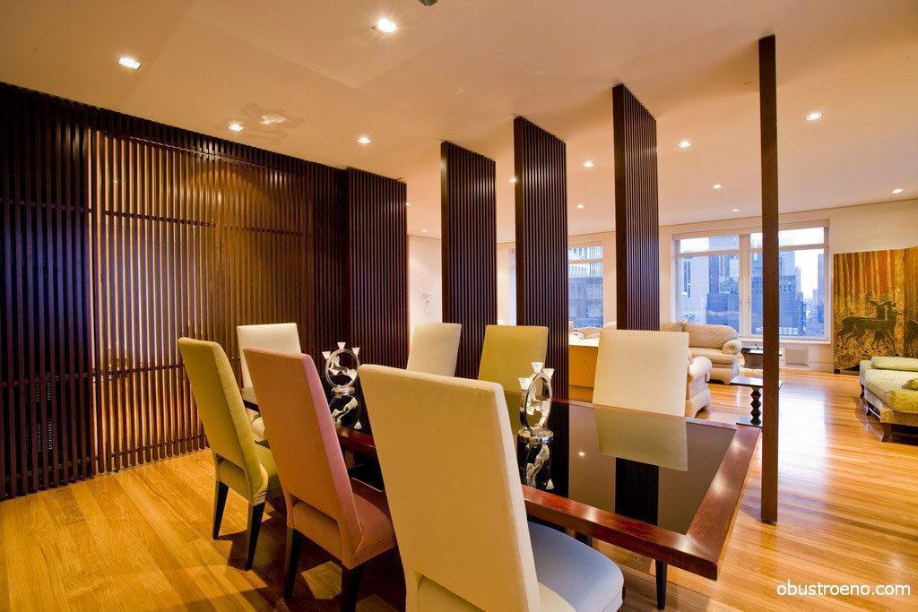 Конструкции для декорирования комнат могут быть созданы как полностью из дерева, так и с заполнением другим материалом