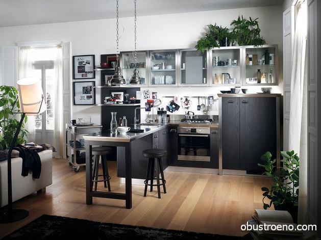 Кухни Scavolini Diesel в черном цвете
