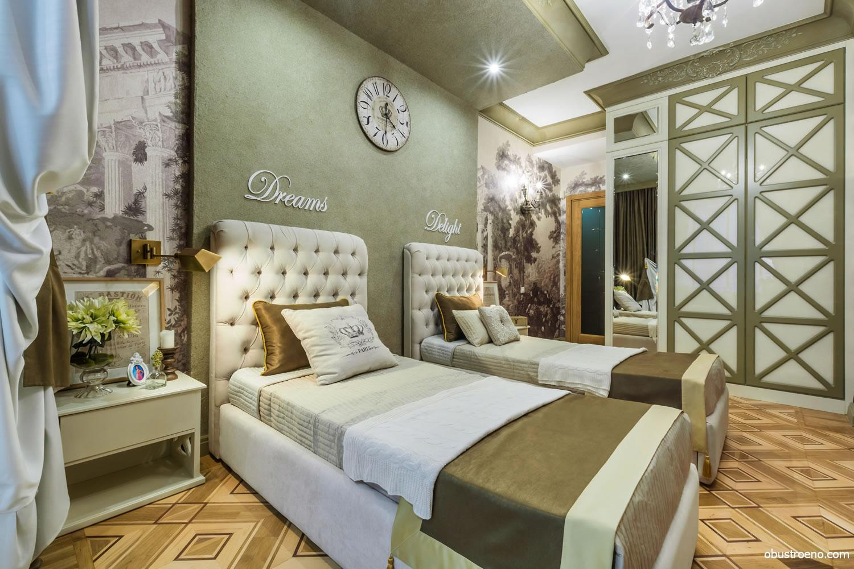 Спальни в оливковом цвете