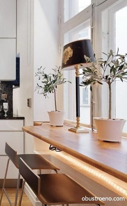 Одна из моих любимых идей – подоконник-стол.