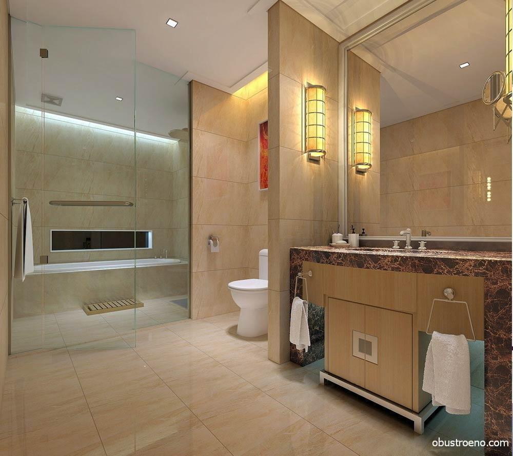 Перегородки в ванной комнате должны быть не только красивые, но и сооружаться из материала, который может хорошо противостоять влажности и перепадам температуры