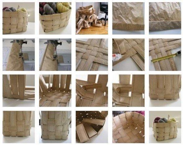 Как сделать плетеные корзинки