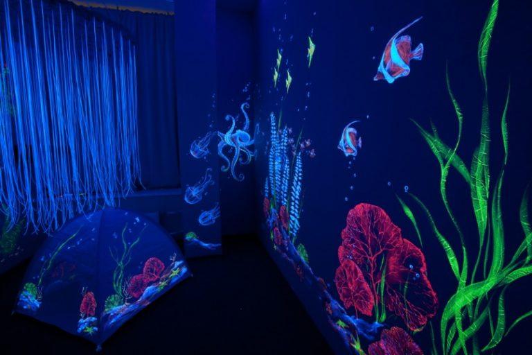 Флуоресцентная краска  видео 6