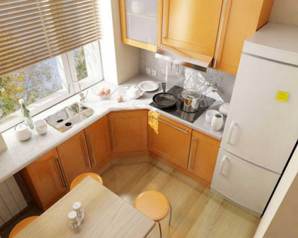 Ремонт в кухне 6 кв метрах