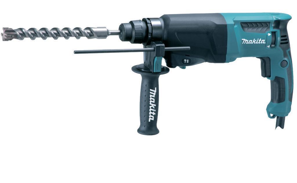 Пример перфоратора с «прямым» расположением двигателя