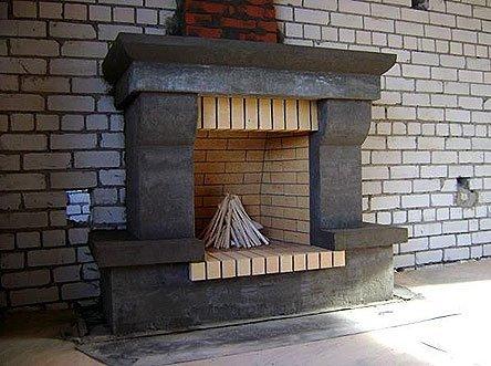 Проектирование, строительство и оформление встроенного дровяного камина выполняется вместе с постройкой дома