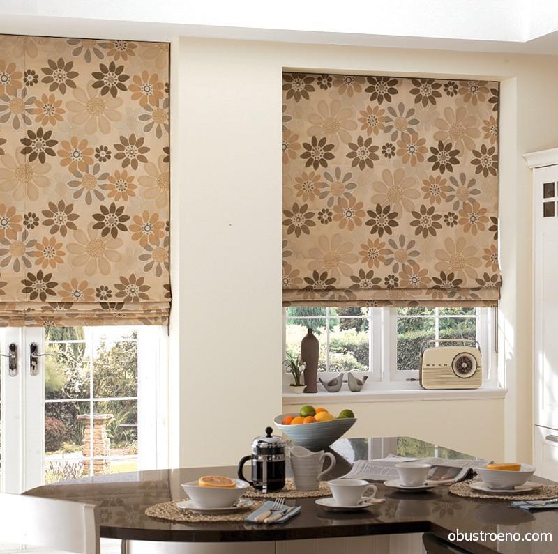 Римские шторы – полноценные элементы интерьера, которые задают цветовые акценты всей комнате