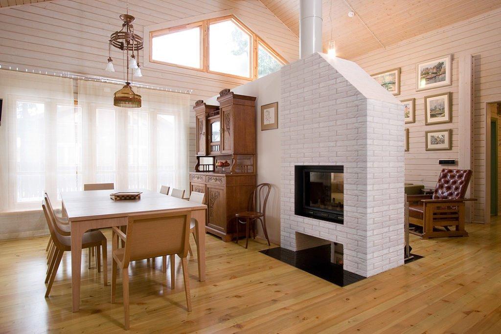 Печка в современном интерьере фото