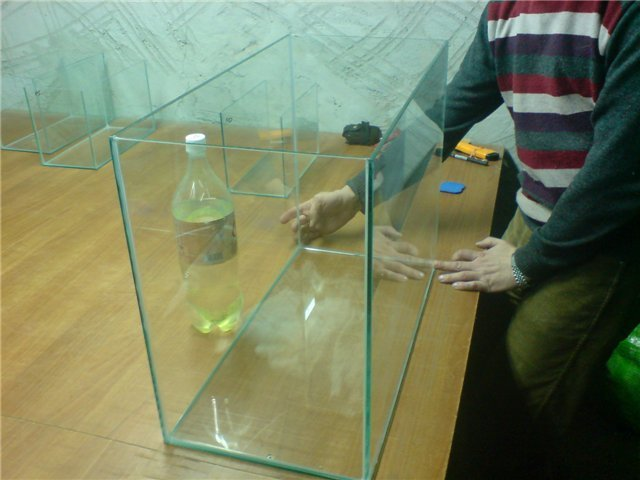 Аквариумы своими руками размеры