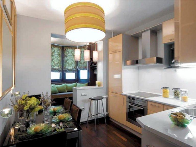 Интерьер кухни с балконом фото 10 кв метров фото