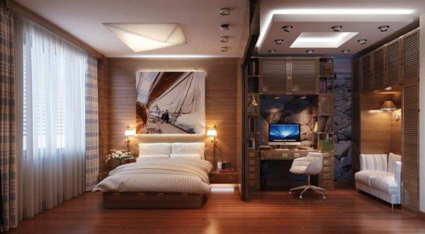 Спалня-кабинет – функциональное пространство