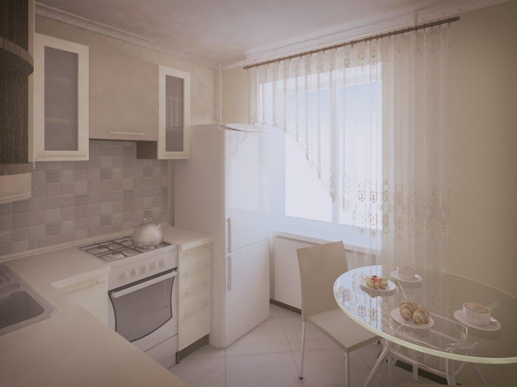 Дизайн маленькой светлой кухни