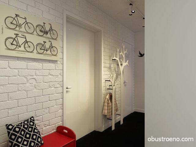 Светлые стены позволяют зрительно расширить маленькую прихожую