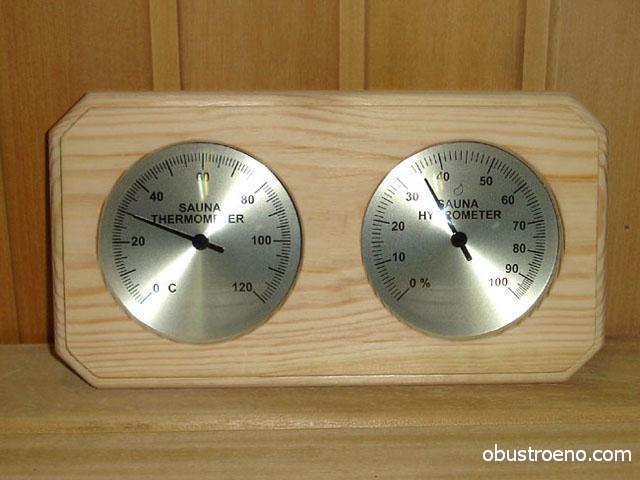 Термометр и влагомер станут дополнением интерьера и позволят контролировать условия в парилке