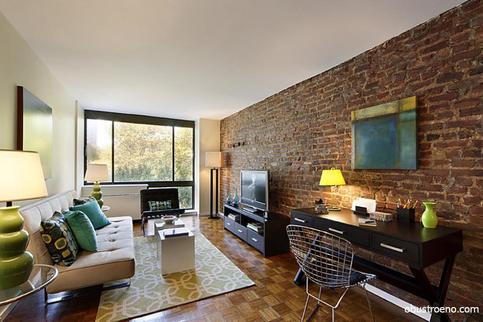 Дизайн квартиры с кирпичными стенами