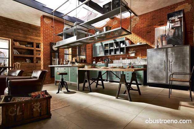 Vintage Marchi Cucine модель Loft – индустриальная романтика на вашей кухне