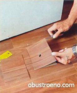 Вырезайте кусок по линиям, так заплатка будет незаметной