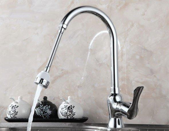 Аэратор заметно уменьшает расход воды при неизменном объеме струи.