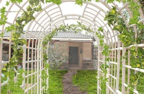 Арка садовая из труб