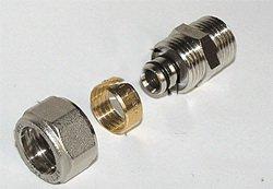 Детали компрессионного фитинга для металлопластика.
