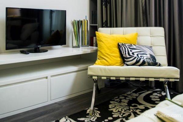 Дизайн гостиной-спальни 18 метров в деталях