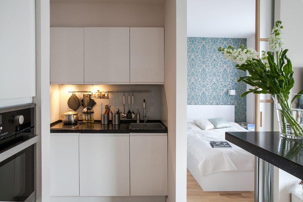 Возможно ли из кухни сделать спальню в однокомнатной комнате (фото) 97
