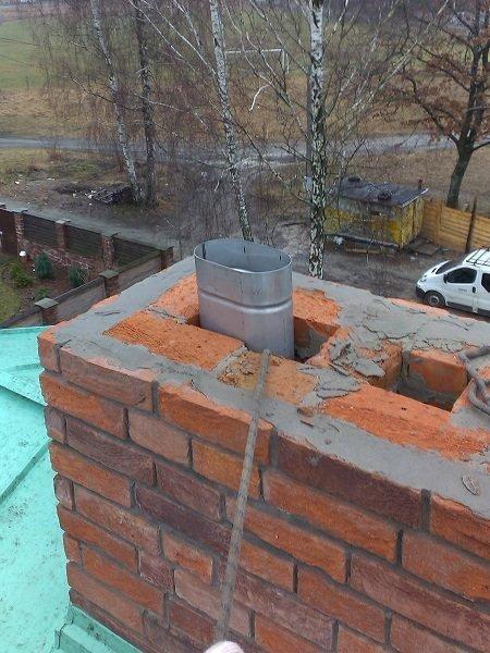 Для повышения эффективности дымоотвода, в кирпичный дымовой канал можно установить вставку из нержавеющей стали.