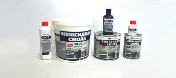 Эпоксидная смола часто используется как герметик.