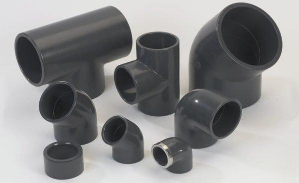 Фитинги для клеевого соединения ПВХ-труб.