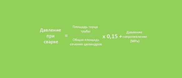 Формула для определения оптимального давления