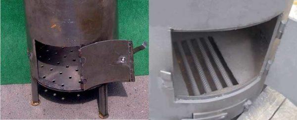 Фото дверцы зольника и топки с колосником