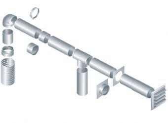 Используя различные детали можно сконструировать вентиляцию любой сложности.