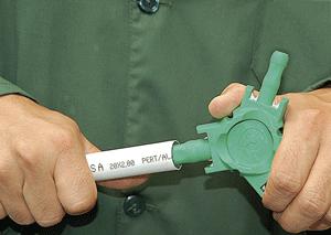 Калибратор помогает восстановить размер и сделать трубу абсолютно круглой.