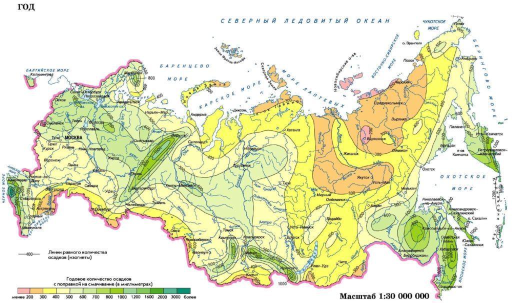 Однако, она уже чем на европейской части россии и осадков здесь выпадает меньше, так как воздушные потоки с атлантики теряют над уралом часть своей влаги.
