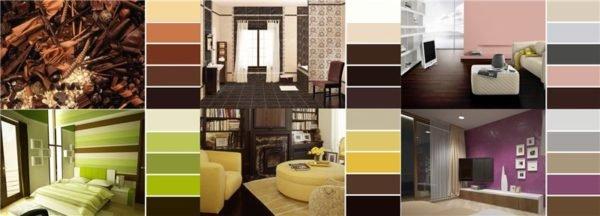 Небольшая инструкция на тему «Сочетание шоколадного цвета в интерьере»