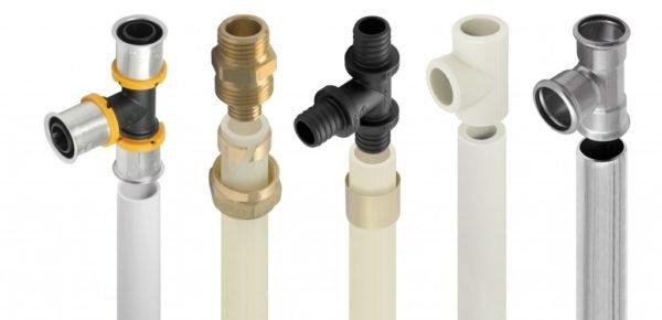 Несколько популярных видов труб и фитингов.