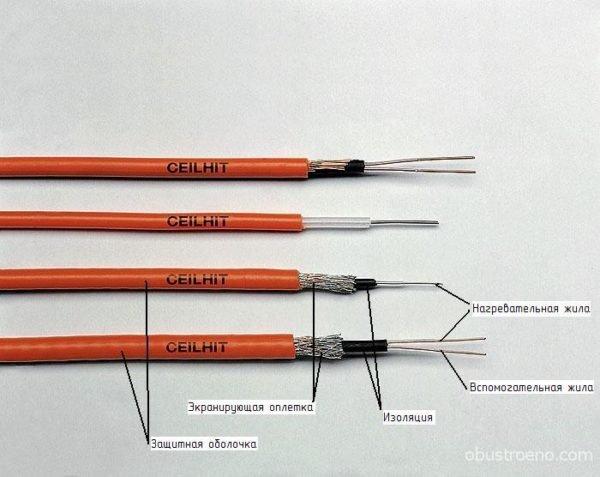 Несколько разновидностей резистивного кабеля.